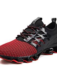 Недорогие -Муж. Комфортная обувь Сетка Весна лето Спортивные / На каждый день Спортивная обувь Беговая обувь Дышащий Черный / Зеленый / Красный / Нескользкий / Доказательство износа