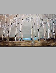 Недорогие -Hang-роспись маслом Ручная роспись - Абстракция Пейзаж Современный Modern Включите внутренний каркас / Рулонный холст / Растянутый холст
