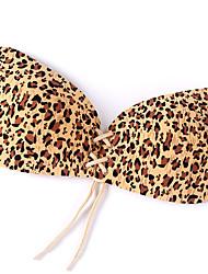 billige -Kvinders Normal Sexy 5/8-BH BH Selvklæbende BH - Leopard