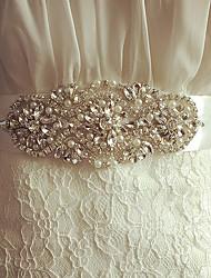 economico -Miscela polyester / cotone Matrimonio / Occasioni speciali Fusciacca Con Con diamantini / Perle di imitazione / Tinta unita Per donna Fasce
