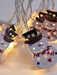 Недорогие -brelong led рождественское украшение снеговик светлая строка 1 шт.