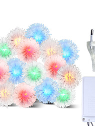 Недорогие -brelong led красочный водонепроницаемый праздник украшения строка волос мяч 1 шт