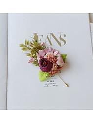 baratos -Mulheres Retro Broches - Broche Jóias Rosa cor de Rosa Para Casamento / Cerimônia
