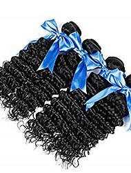 Недорогие -4 Связки Бразильские волосы / Евро-Азиатские волосы Крупные кудри Натуральные волосы / Необработанные натуральные волосы Подарки / Косплей Костюмы / Человека ткет Волосы 8-28 дюймовый