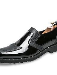baratos -Homens Sapatos Confortáveis Couro Ecológico Outono Oxfords Dourado / Preto / Prata / Festas & Noite
