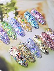 ieftine -1 pcs Clasic / Schimbare - Culoare Strălucire Strălucire Paiete Pentru Unghie Romantic Series nail art pedichiura si manichiura Zilnic / Gală Elegantă Corean / Modă