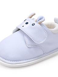 Недорогие -Мальчики / Девочки Обувь Хлопок Наступила зима Обувь для малышей На плокой подошве На липучках для Дети Лиловый / Розовый / Светло-синий