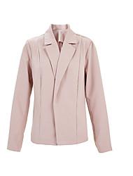 رخيصةأون -نسائي أسود وردي بلاشيهغ رمادي M L XL سترة أساسي لون سادة