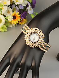 Недорогие -FEIS Жен. Часы-браслет Кварцевый Золотистый Секундомер Аналого-цифровые Дамы Мода - Синий Золотистый Темно-синий