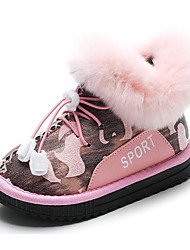 billige -Drenge / Pige Sko PU Vinter Modestøvler Støvler Elastik for Børn Sort / Army Grøn / Lys pink