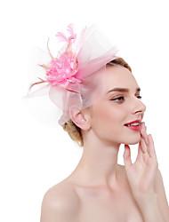 preiswerte -Tüll / Feder Fascinatoren / Kopfschmuck / Kopfbedeckung mit Feder 1 Stück Party / Abend / Karriere/ Zeremonie / Hochzeit Kopfschmuck