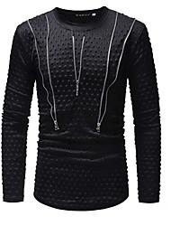 Недорогие -мужская тонкая футболка - сплошной цветной шею
