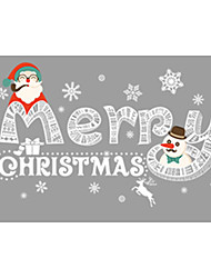 Недорогие -Декоративные наклейки на стены - Праздник стены стикеры Геометрия / Рождество В помещении / Детская