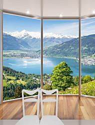 abordables -fond d'écran / Mural Toile Revêtement - adhésif requis arbres / Feuilles / Décoration artistique / 3D