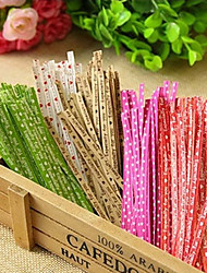 cheap -700Pcs Colorized Decorative Twist Tie of Package Kraft Paper Packaging Rope