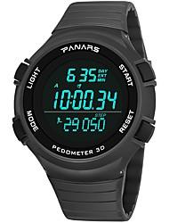 Недорогие -Муж. Спортивные часы Японский Цифровой Черный / Серый 30 m Защита от влаги Календарь С двумя часовыми поясами Цифровой Мода - Черный Серый / Хронометр / Фосфоресцирующий