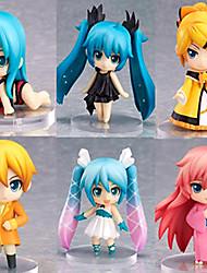 billiga -Anime Actionfigurer Inspirerad av Vocaloid Hatsune Miku pvc 6.5 cm CM Modell Leksaker Dockleksak