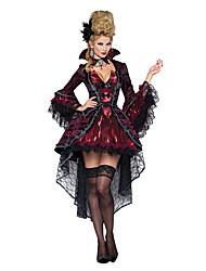 abordables -Vampire Reine Costume de Cosplay Costume de Soirée Femme Noël Halloween Carnaval Fête / Célébration Déguisement d'Halloween Tenue Rouge noir Rétro