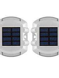 Недорогие -2pcs 3 W Светодиодный уличный фонарь Водонепроницаемый / Работает от солнечной энергии / Декоративная Белый 1.2 V Уличное освещение 6 Светодиодные бусины