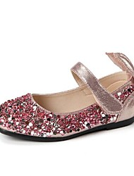abordables -Fille Chaussures Polyuréthane Hiver Chaussures de Demoiselle d'Honneur Fille Ballerines Paillette / Scotch Magique pour Enfants / Adolescent Argent / Rose