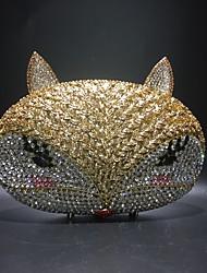 Недорогие -Жен. Мешки PU / Сплав Вечерняя сумочка Кристаллы / С отверстиями Сплошной цвет Золотой