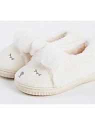 billiga -Flickor Skor Imitationspäls Höst vinter Komfort / Fur Foder Tofflor och flip-flops Pom-pom för Barn Beige
