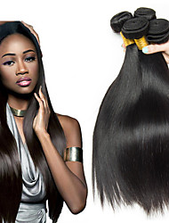 저렴한 -3 개 묶음 인도인 헤어 직진 8A 인모 미처리 인모 인간의 머리 직조 헤어 케어 익스텐션 8-28 인치 자연 색상 인간의 머리 되죠 단순한 디자인 최고의 품질 인간의 머리카락 확장 여성용