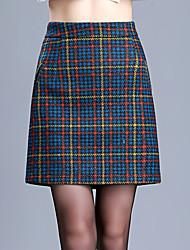 Недорогие -женский выход плюс размер выше колена линии юбки - проверка