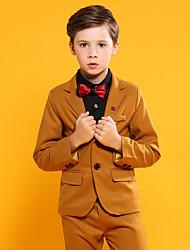 お買い得  -ブラウン コットン / POLY リングベアラースーツ - 1枚 含まれています パンツ