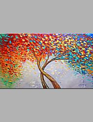 Недорогие -Hang-роспись маслом Ручная роспись - Абстракция Цветочные мотивы / ботанический Modern Без внутренней части рамки / Рулонный холст
