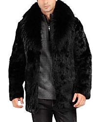 Недорогие -Муж. Пальто с мехом Классический - Однотонный
