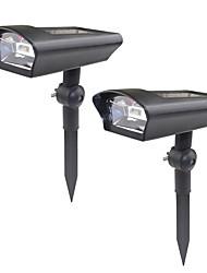 Недорогие -2pcs 3 W Свет газонные / Светодиодный уличный фонарь / Солнечный свет стены Работает от солнечной энергии / Декоративная / Управление освещением Белый 3.2 V Уличное освещение 1 Светодиодные бусины