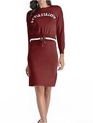 povoljno -Žene Ulični šik Set - Slovo Suknja