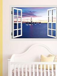 Недорогие -Декоративные наклейки на стены - Простые наклейки / Наклейки для животных Пейзаж Спальня / Детская