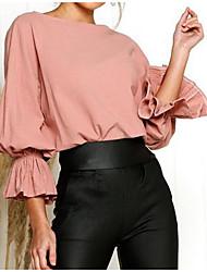 Недорогие -женская хлопчатобумажная кофточка - сплошная цветная шея