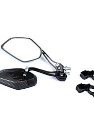 billige -Bakspeil Speil til sykkelstyre Speil Lettvektsmateriale Roterbare Dekorasjon justerbar Fleksibel Til Vei Sykkel Fjellsykkel Sykkel med fast gir Sykling Aluminum Alloy ABS Svart