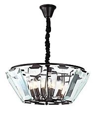 Недорогие -QIHengZhaoMing 5-Light Кристаллы Люстры и лампы Рассеянное освещение Окрашенные отделки Металл Хрусталь 110-120Вольт / 220-240Вольт Теплый белый