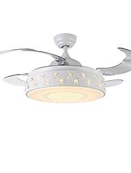 baratos -QINGMING® Ventilador de teto Luz Ambiente Acabamentos Pintados Metal LED 110-120V / 220-240V Cores Múltiplas