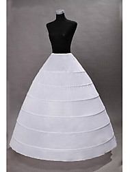 Недорогие -Принцесса Готика Средневековый Костюм Жен. Нижняя юбка Белый Винтаж Косплей Полиэстер