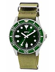 Недорогие -Муж. Армейские часы Японский Кварцевый Нейлон Тёмно-зелёный 30 m Творчество Аналоговый Винтаж На каждый день - Темно-зеленый Один год Срок службы батареи