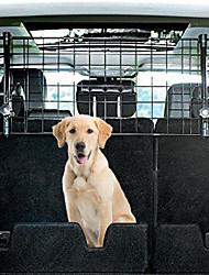 Недорогие -Собаки Защитный экран Клетки Чехол для сидения автомобиля Животные Корпусы Регулируется Путешествия Складной Однотонный Черный