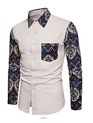 Недорогие -Муж. Рубашка Уличный стиль Цветочный принт