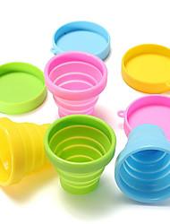 Недорогие -Кружка перемещения силиконовой резины 1pc портативная питьевая чашка fodable чашка