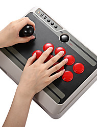 baratos -8bitdo nes30 personalizável bluetooth arcade vara gamepad suporte ios android pc mac linux