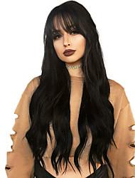 Недорогие -человеческие волосы Remy Полностью ленточные Парик Бразильские волосы Волнистый Парик 130% Плотность волос с детскими волосами Природные волосы Отбеленные узлы Жен. Длинные