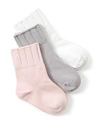 Недорогие -3 пары Мальчики / Девочки Носки Standard Однотонный Calm Простой стиль Хлопок 0-6 месяцев / 7-12 месяцев / 1-3 года