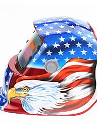 Недорогие -красный флаг орел шаблон солнечная автоматическая фотоэлектрическая сварочная маска