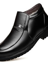 billige -Herre Snestøvler Syntetisk Efterår vinter Klassisk / Afslappet Støvler Hold Varm Ankelstøvler Sort