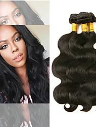 Недорогие -3 Связки Перуанские волосы Естественные кудри 8A Натуральные волосы Необработанные натуральные волосы Подарки Косплей Костюмы Головные уборы 8-28 дюймовый Естественный цвет Ткет человеческих волос