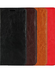 abordables -Funda Para Apple iPhone XR / iPhone XS Max Cartera / Soporte de Coche / con Soporte Funda de Cuerpo Entero Un Color Dura piel genuina para iPhone XS / iPhone XR / iPhone XS Max